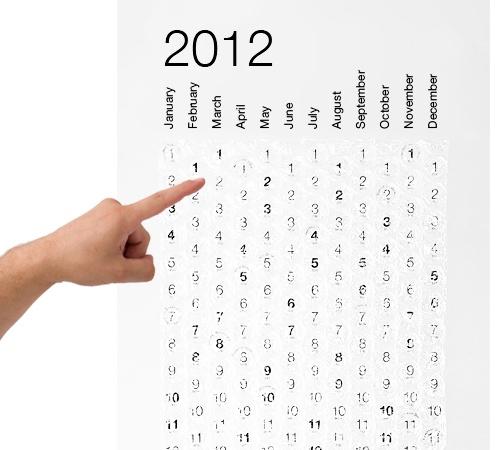 Календарь с пупырками