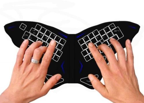 Клавиатура с крылышками