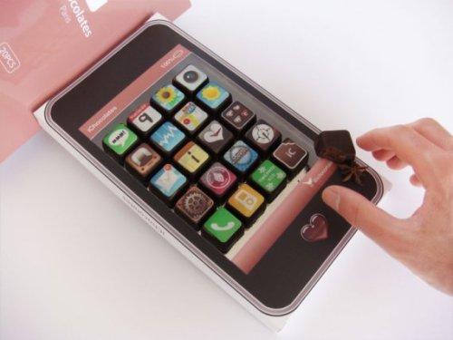 Шоколадный набор из айфона