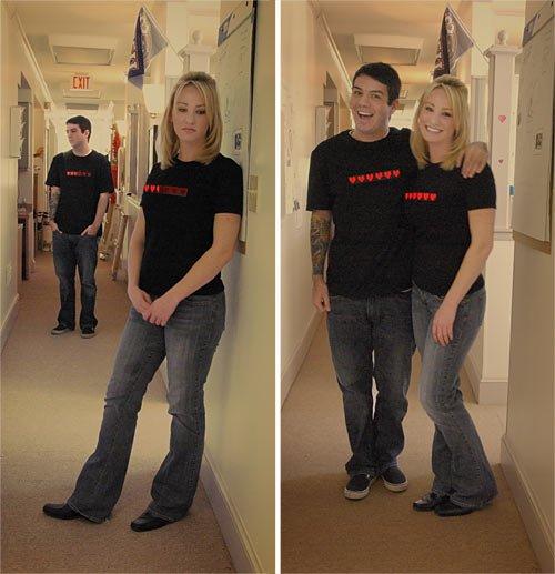 Живые футболки ко дню Св. Валентина
