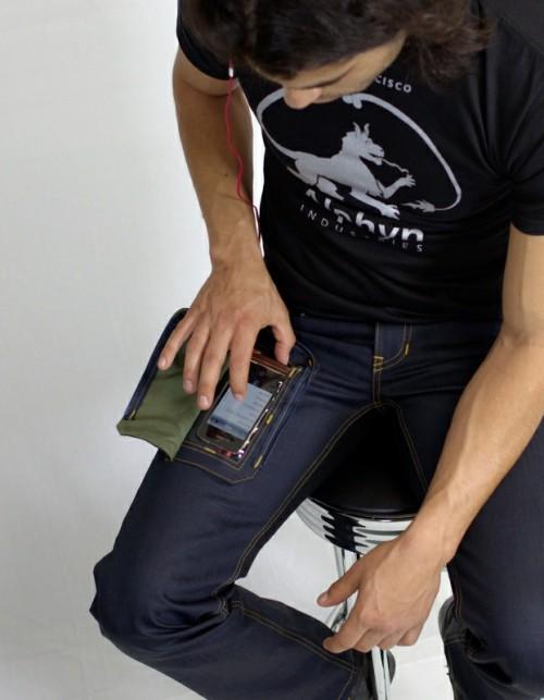 Джинсы с карманом для смартфона