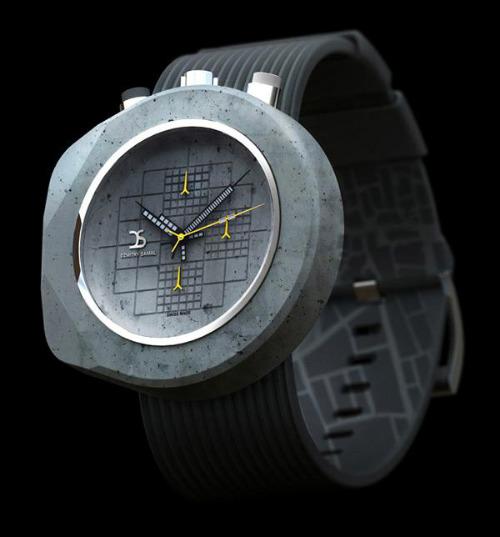 Наручные часы из бетона