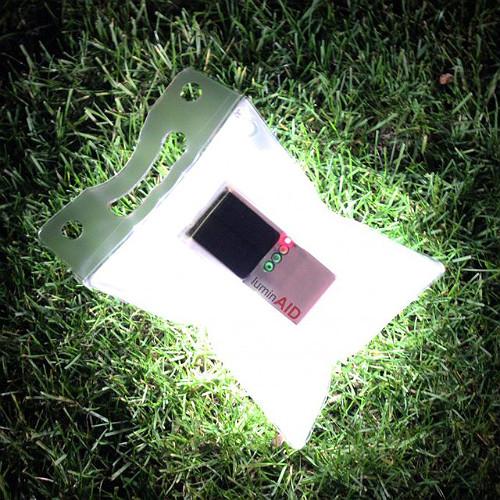 Надувной фонарик на солнечных батареях