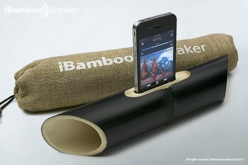 Айфоновые колонки из бамбука
