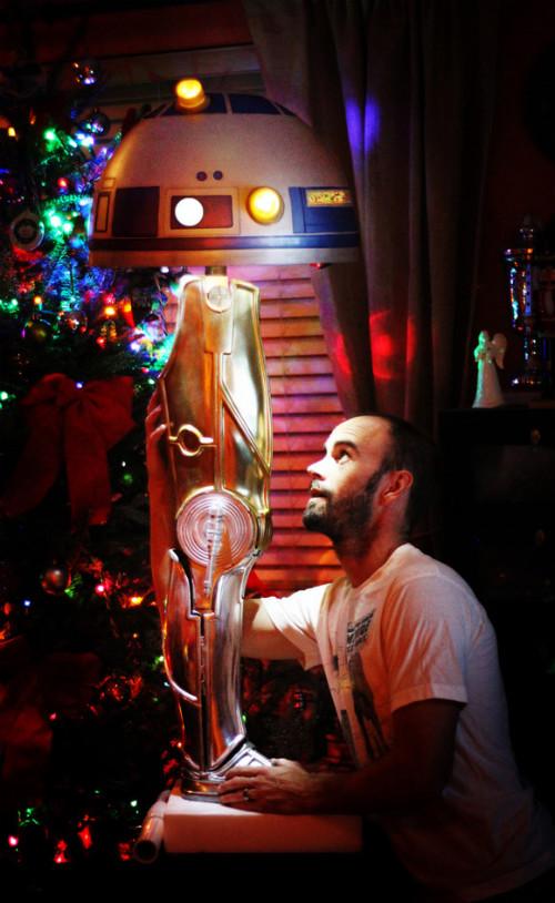 Лампа из дроидов