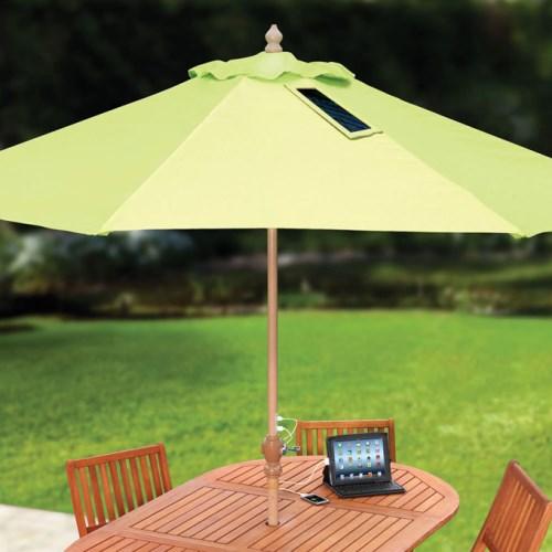 Зонтик-солнечная батарея