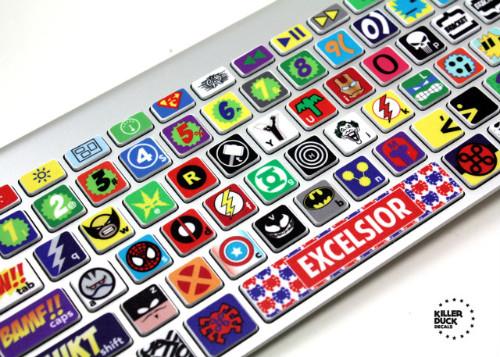Супергеройские стикеры для клавиатуры