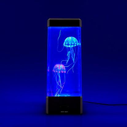Светодиодный светильник с плавающими медузами