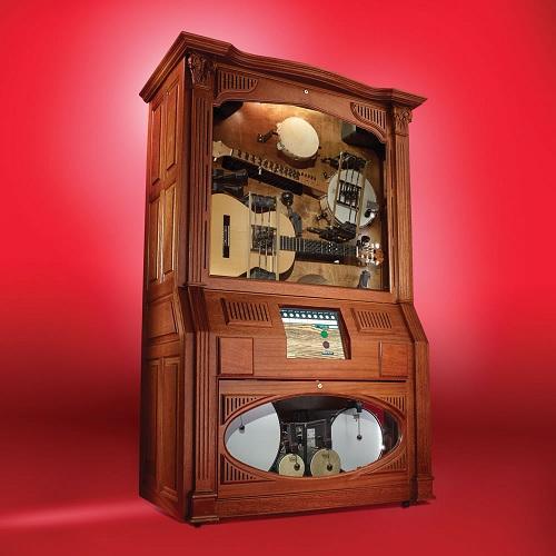 Музыкальный шкаф с настоящими инструментами
