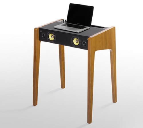 Аудиосистема hi-fi в столе для ноутбука